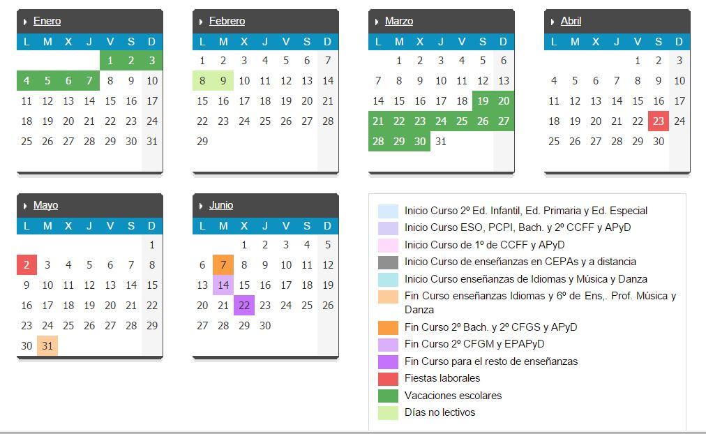 calendario escolar 2015 - 16